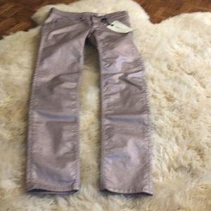 rag & bone metallic leggings jeans 25 stretch 0/2